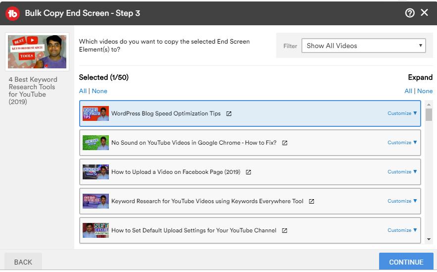 bulk copy end screen step 3