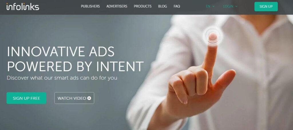 Best Google Adsense Alternatives - Infolinks