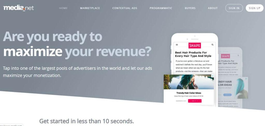 Best Google Adsense Alternatives - Media dot net