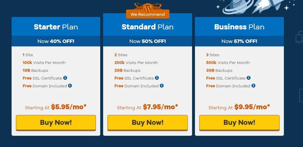 hostgator wordpress hosting plans and pricing