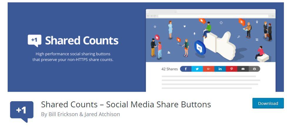 Shared counts WordPress Plugin