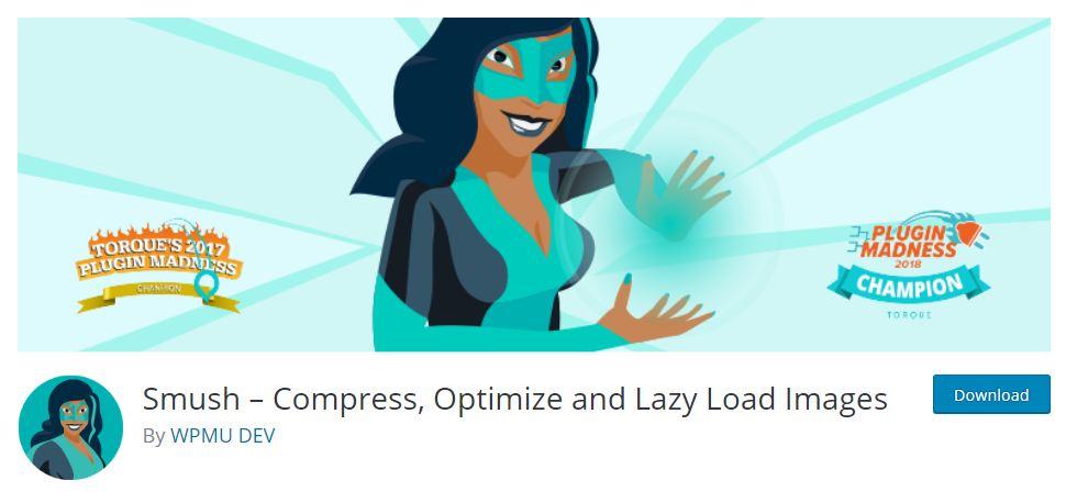 Smush wordpress plugin for image compression and optimisation