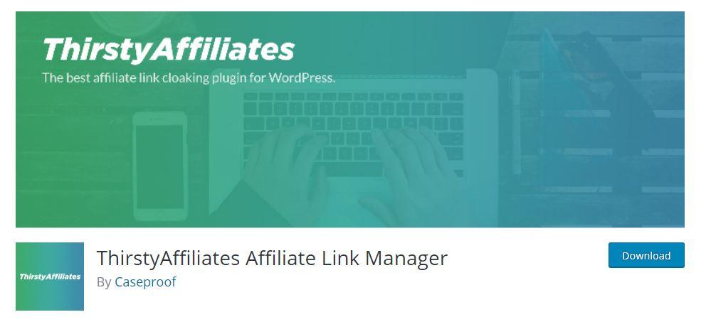 Thristy Affiliates WordPress Plugin for Link Cloaking