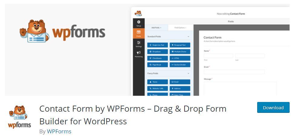 wpfoms wordpress plugin for drag and drop form builder