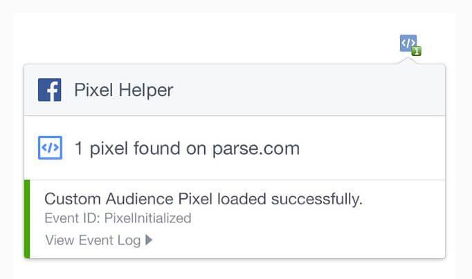 Facebook pixel helper google chrome extension