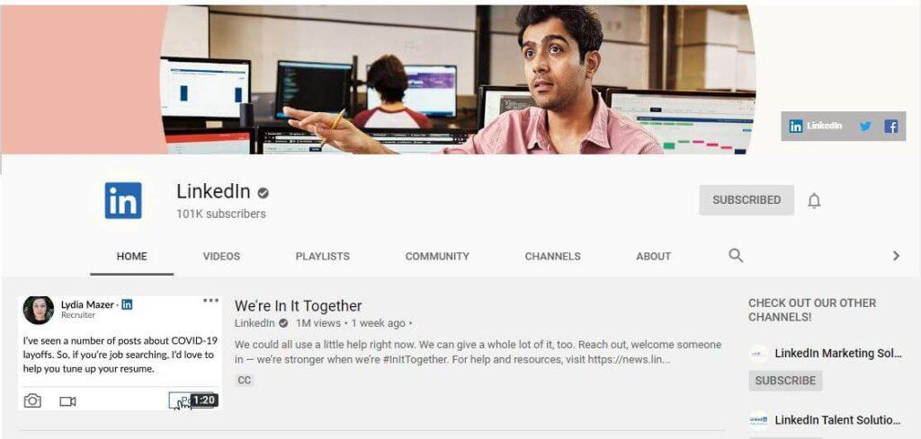 Linkedin YouTube Channel for Linkedin Marketing