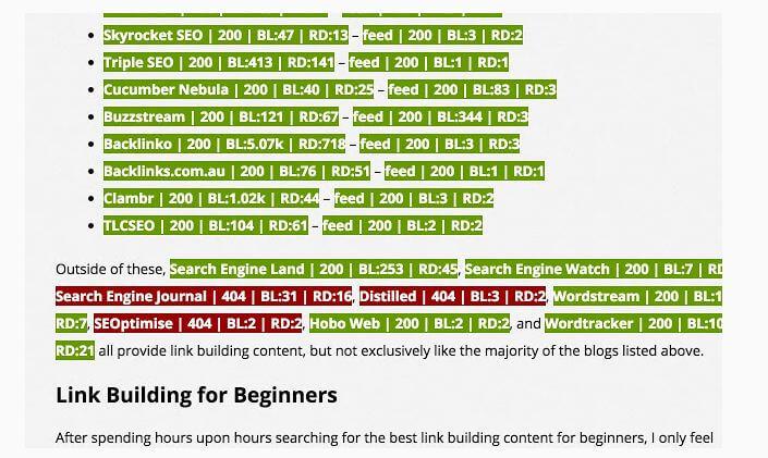 Linkminer Google Chrome Extension