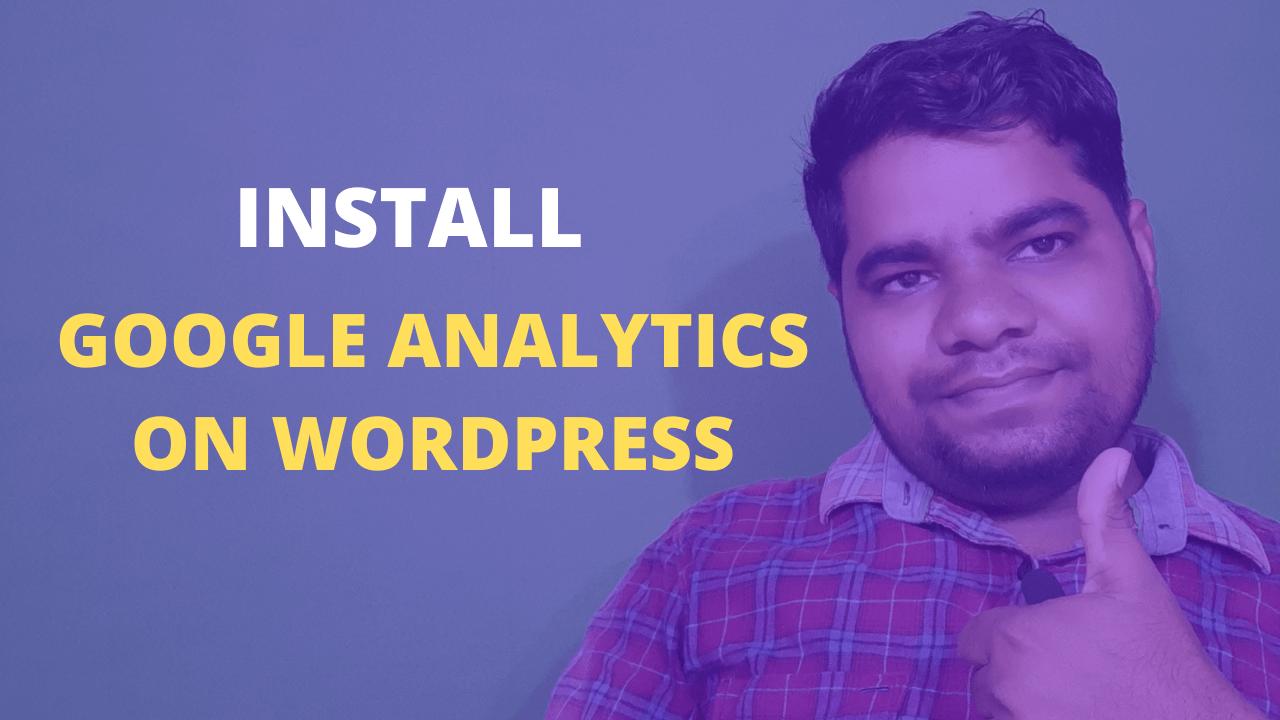 install google analytics on wordpress